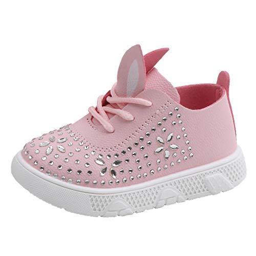 Sllowwa Babyschuhe Krabbelschuhe Turnschuhe Lauflernschuhe Weiche Sohle Baby Schuhe Mädchen Cartoon Kaninchen Ohr Kristall Prinzessin Einzel Freizeitschuhe