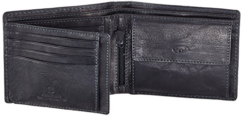 Tom Tailor Acc LARY 14201 Herren Geldbörsen 12x10x1 cm (B x H x T) Schwarz (schwarz 60)