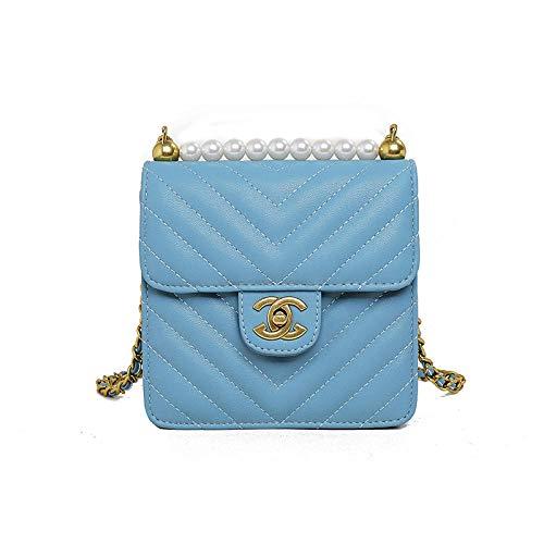 Fyyzg Single Shoulder Sling Small Bag gestreifte Qualität Female Bag Shoulder Sling Small Bag - Small Blue (Michael Kors Handtaschen Sling)
