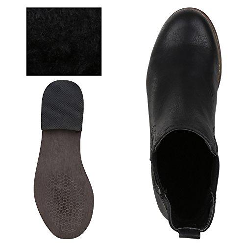 napoli-fashion , Bottes Chelsea femme noir/marron