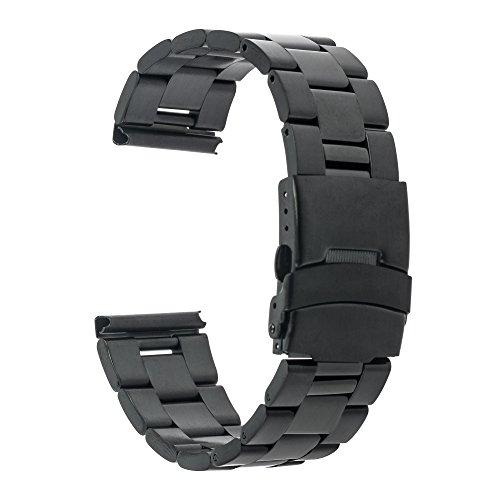Garmin Vivoactive 3 Armband, TRUMiRR 20mm Edelstahl Uhrenarmband Sicherheitsverschluss -Bügel für Samsung SM-R600 Gear Sport, Gear S2 Classic (SM-R732/R735), Garmin Vivoactive 3, Huawei Watch 2 (Sport), Ticwatch E/2 (3g Sport Armband)