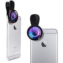 Lente macro de alta definición (sin distorsión), lente profesional Evershop® Professional 15X con soporte de clip universal de 37 mm para iPhone, Samsung, Smartphone y PC portátil / iPad (macro)