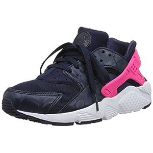 Nike Mädchen Huarache Run (GS) Laufschuhe, schwarz/pink