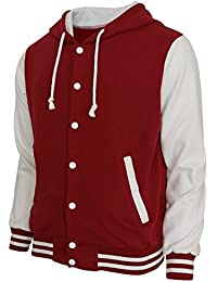 BCPOLO Hoodie Baseball Jacket Varsity Baseball Jacket Cotton Letterman jacket