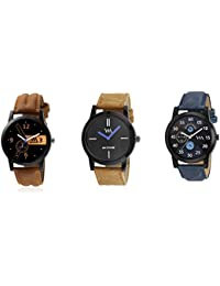 Watch Me Gift Combo Set For Him/Watches For Men/Watches For Boys (watches 3 Combo/watches 2 Combo) WMC-002-BR-AWC... - B0778DYFZ4