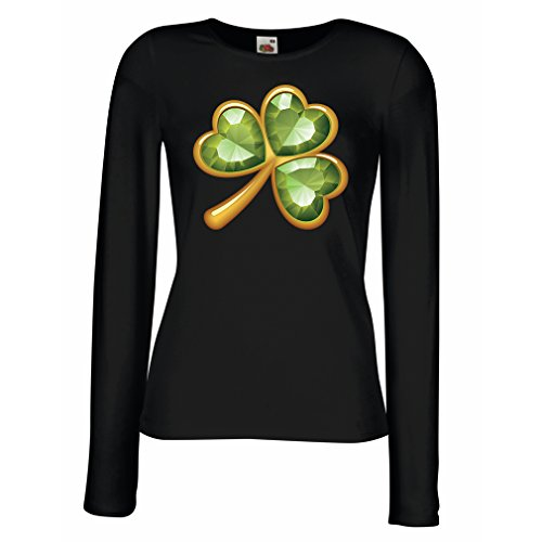 manches-longues-femme-t-shirt-irish-shamrock-st-patricks-day-vtements-de-fte-irlandais-x-large-noir-