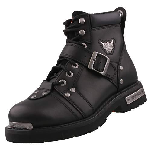 Harley Davidson Biker Boots D91684 Stivali Motore con Fibbia Freno Black Black, Taglia:41