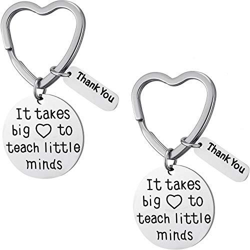 Tatuo 2 Stücke Lehrer Schlüsselanhänger Lehrer Wertschätzung Geschenke Schlüsselanhänger mit 2 Schwarzen Kästchen zum Anzeigen Ihrer Wertschätzung