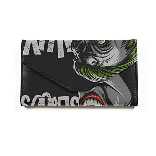 Böse beängstigend Clown Monster Travel Passport Wallet dreifach gefaltete Document Organizer Inhaber personalisierte Passinhabers Cover Pass (Monster Beängstigend)