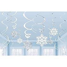 Decorazioni Natalizie Fiocchi Di Neve.Amazon It Decorazioni Natalizie Addobbi Fiocco Di Neve