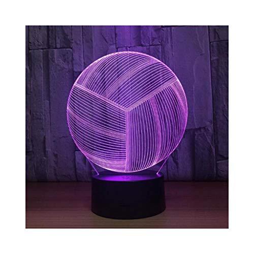 XIAOYEDENG Volleyball 3D Licht Bunte Touch LED Licht Kreative Geschenk Nachtlicht Personalisierte Nachtlicht