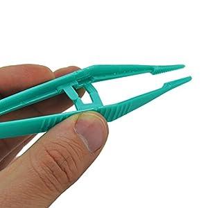 JFA Medical grün Kunststoff 13cm Einweg Pinzette/Pinzette, 30Stück
