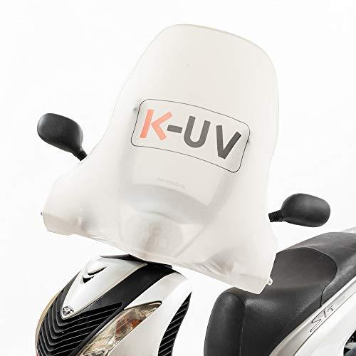 K-UV® protegge dal sole il parabrezza e la carrozzeria del tuo scooter. Evita l\'effetto lente sulla carrozzeria del tuo Scooter. Utile anche in inverno contro il gelo e la brina. (Bianco)