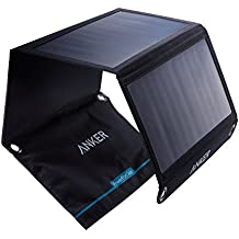Anker Power Port Solar Charger (21W 2-Port Usb Solar Panel Charger) For Iphone 6 / 6 Plus, Ipad Air 2 / Mini 3, Galaxy S6 / S6 Edge