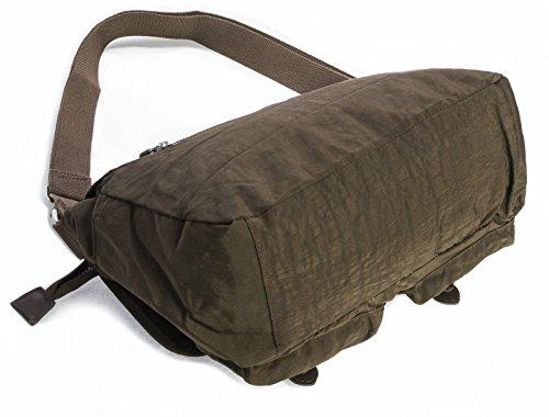 Big Handbag Shop - Borsa a tracolla unisex (Caffè espresso)