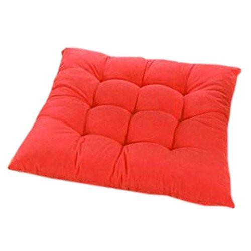 Blancho Intérieur/extérieur Soft Home/Bureau Siège carré Coussin respirant Coussin avec sangle, Gros rouge