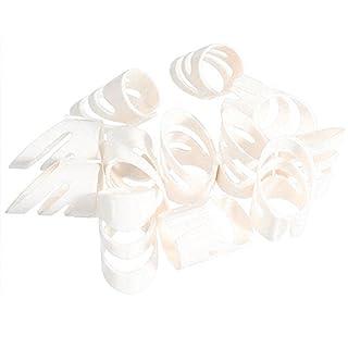 Rocita Gitarrenplektren, Daumen-Plektren für Fingerschützer aus Kunststoff für Akustikgitarre Ukulele 4Pcs(Weiß/L)