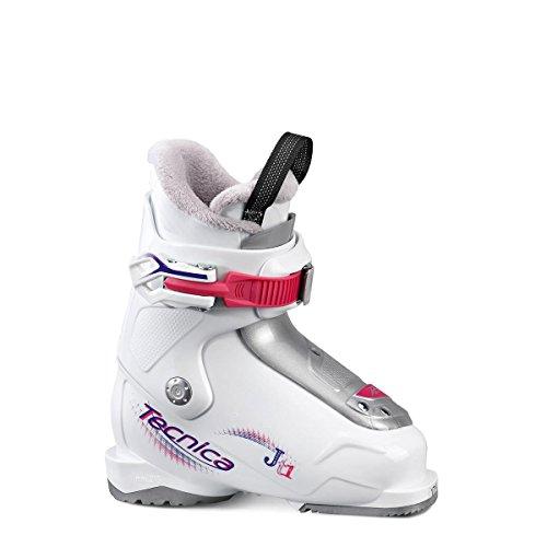 Tecnica JT 1Fille Chaussures de ski blanc