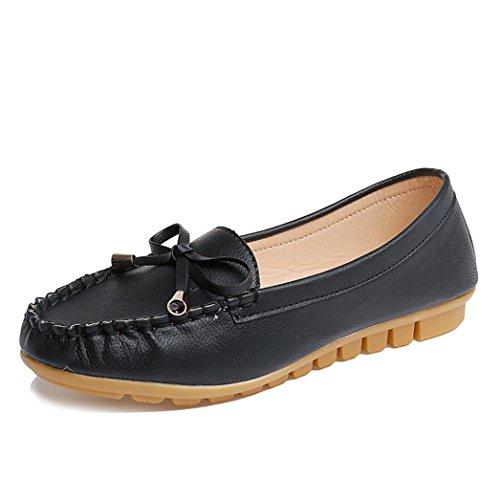 Chaussures, Fulltime® Femmes Chaussures plates prévenir Slip On Comfort Mocassins,Multiple Couleur Noir
