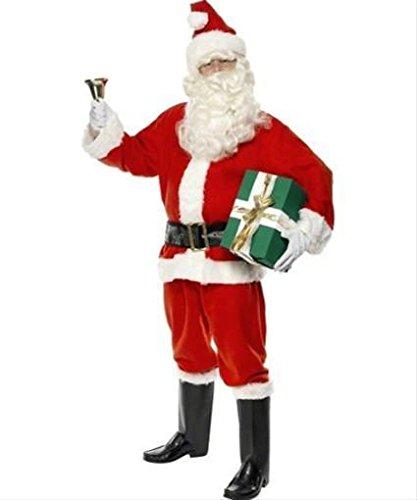 Santa Suit Costume Man Christmas Fancy Dress