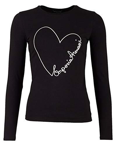 Emporio Armani Herz-Logo Langen Ärmeln t-Shirt Black 12
