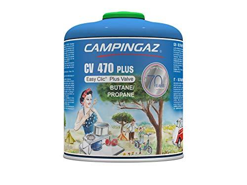 Campingaz CV 470 Plus Ventil Gas Kartusche, für Campingkocher, Kompakt mit Schraubventil, Butan-Propan Mischung
