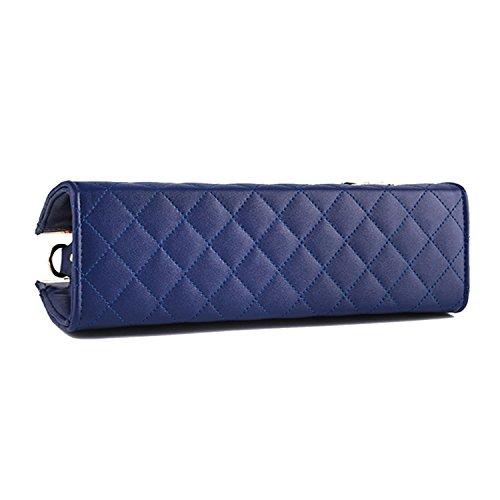 BYD - Pell Donna Mini forma di diamante Tote Bag Handbag Borsa decorazione con fiocchi Rosso