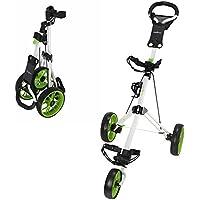 Caddymatic Golf Pro Lite 3 Wheel Golf Trolley White/Green