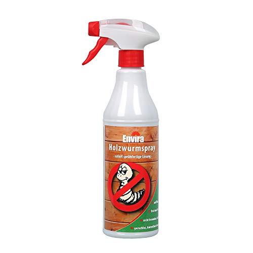 Envira Holzwurm-Spray I Holzwurm Ex Gegen Holzschädigende Insekten Mit Langzeitschutz I Auf Wasserbasis I 500 ml