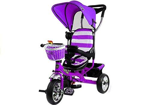 Lean Toys Dreirad Violett Kinderdreirad Kinderrad Kinderfahrrad Kinder Rad 3-Rad Fahrrad