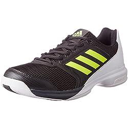 adidas Multido Essence, Zapatillas de Balonmano para Hombre, Negro (Utility Black/solar Yellow/ftwr White), 40 2/3 EU