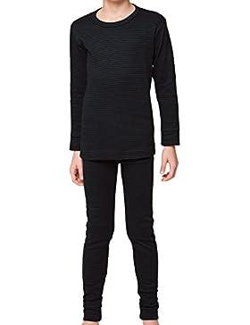 Kinder Thermowäsche Set (Hemd + Hose) - Warm, weich und atmungsaktiv durch Klimafaser! - Größen 134-164 wählbar...