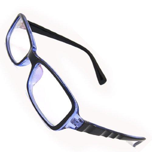 DealMux Glossy Blau Mehr beschichtet Objektiv Plano Brille für Männer
