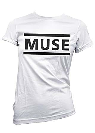 T-shirt Donna Muse - maglietta 100% cotone LaMAGLIERIA, S, Bianco