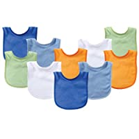 Luvable Friends Unisex Baby Cotton Terry Bibs One Size 10419178