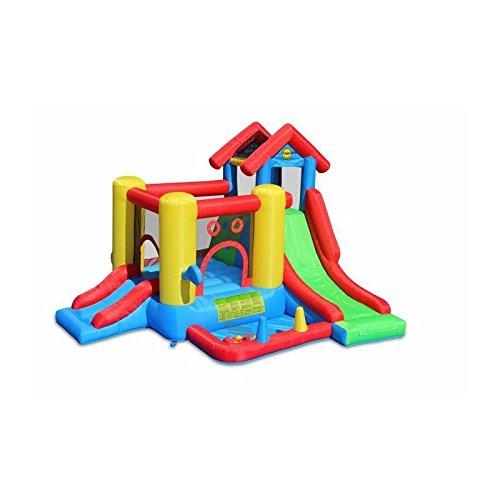 Happy Hop- Gonfiabile 7 in 1 7 In 1 Play House, (9019)