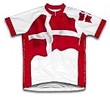 Sovereign ordre militaire de Malte drapeau à manches courtes Maillot de cyclisme pour femme Large Blanc - blanc