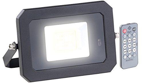 Luminea LED Außenstrahler: Wetterfester LED-Fluter, Radar-Bewegungssensor, Fernbedienung, 20 W (Aussenleuchte mit Fernbedienung)