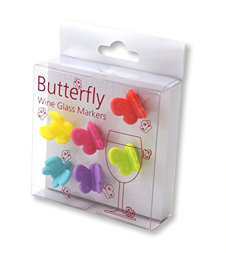outlook-vrr0100146-butterfly-design-set-of-6-silicone-glass-multi-colour