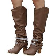 ... estrellas 2 · ❤ Botas de Moda de Tubo Alto para Mujer, Botines de Moda Zapatos de