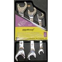 Alden Wrench Ratching doppio 56038-Chiave a forchetta, Set da 3, maschio