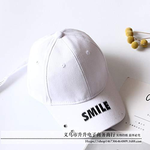 Kostüm Fliegen Mädchen Hip Hop - mlpnko Kinder Hut Bestickte Baseballmütze Jungen und Mädchen 3-6 Caps Weiß 50-52CM