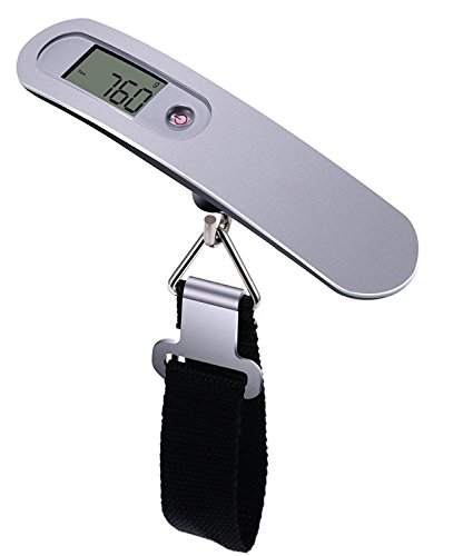 EzLife - 50Kg Portable Electronic Digital LCD Screen Scale For Travel Luggage Home Personal Use