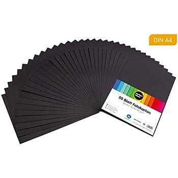 Graphit FarbenFroh/® 14,8 x 21 cm Bastelbogen Ton-Papier Fotokarton Bastel-Papier Ton-Karton 240 g//m/² 50 DIN A5 Papier-b/ögen Planobogen