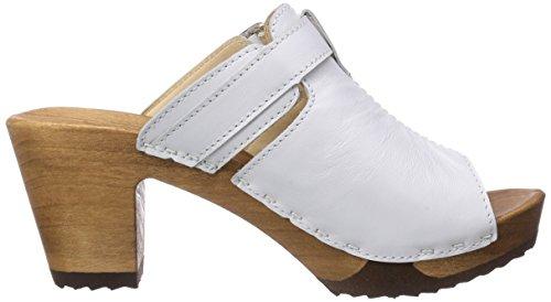 Woody Samina, Chaussures de Claquettes femme Blanc - Blanc