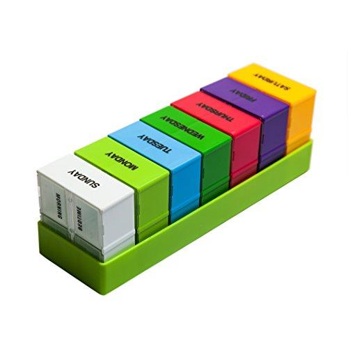morepack 28Fächer Weekly Pille Box für große, mittlere, kleine Größe, Pille, Vitamin, Nahrungsergänzungsmittel, 1 Packung (Kleine Wallet Snap)