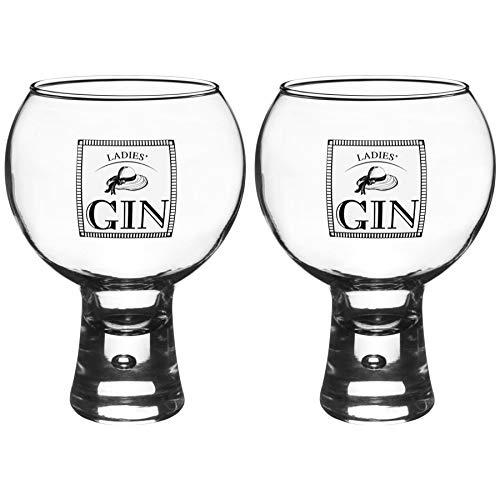 DUROBOR Alternato Tige Courte Ladies Verre � Gin 540ml - Lot de 2