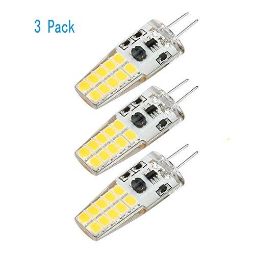 Ruesious Casquillo G4 Bombilla LED - 3W/300LM, equivalente a 30W, Blanco Cálido 3000K, DC/AC 12V, no regulable, Pack de 3 [Clase de eficiencia energética A+]