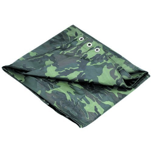 P-Line Multi-Purpose Camouflage Poly Tarp Cover Tent Shelter Camping Hiking Tarpaulin