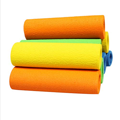 Sungpunet Jump Rope Griff Elastic Cover Springseil Griff Eva Sleeve Badmintonschläger elastische Eva Wrap-Over-Grip-Abdeckung (zufällige Farbe, 4 Stück)